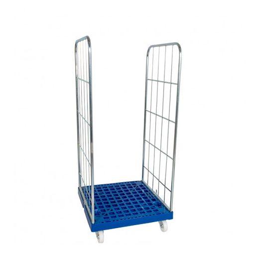 Rolly kocsi 2 oldallal 1460 - 600x400-as és 600x800-as dobozokhoz - kék