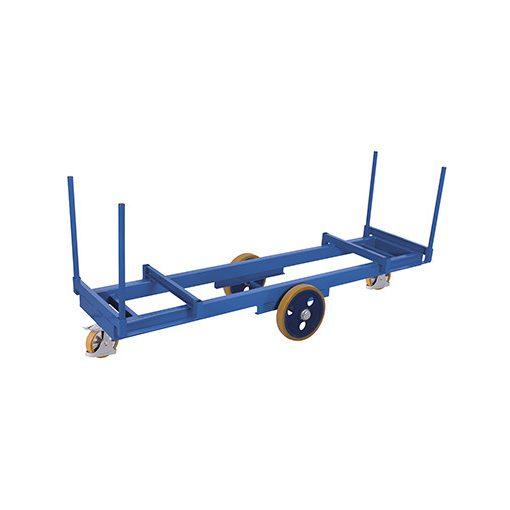 Hosszúanyag kocsi 4 rögzítőelemmel
