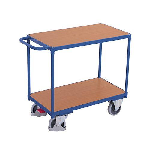 Nagy teherbírású asztalkocsi 2 rakfelülettel