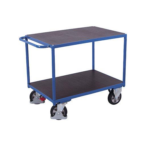 Nagy teherbírású asztalkocsi 2 rakfelülettel- 1000 kg