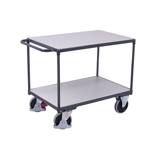 ESD nagy teherbírású asztalkocsi 2 rakfelülettel